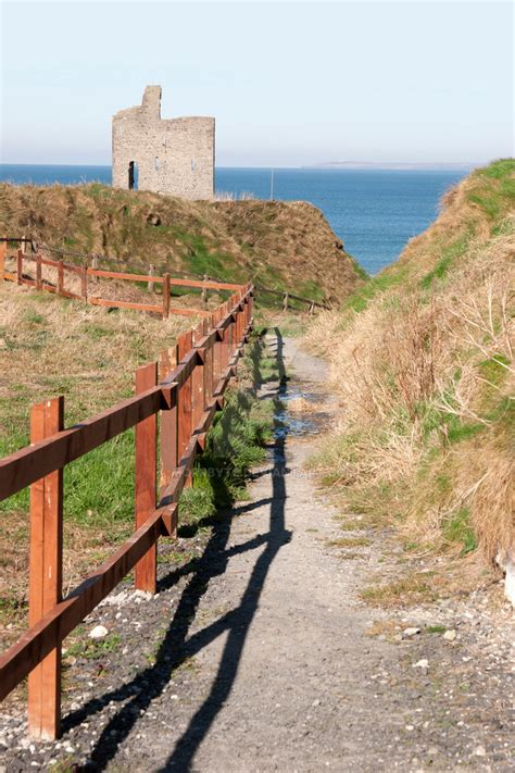 Fenced Path To Ballybunion Beach And Castle By Morrbyte On