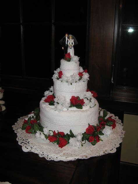 wedding towel cake wedding towel cakes towel cakes