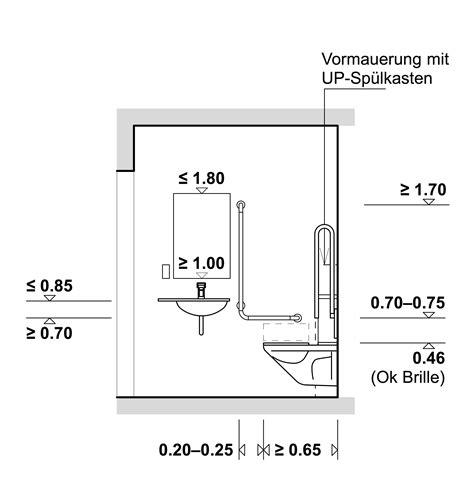 Fliesenspiegel Oberkante ausstattung rollstuhlgerechter toiletten hindernisfreie