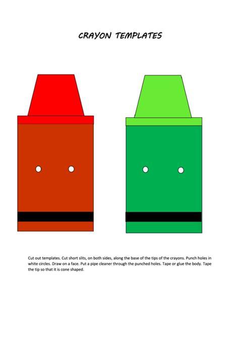 multicolor crayon templates printable