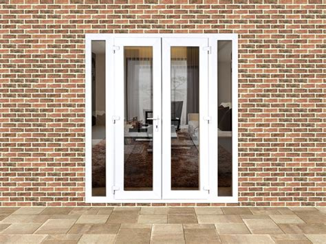 Mm Upvc French Doors With Narrow Side Panels