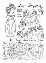 Paper Dolls Doll Anya Coloring Ventura Charles Imagines Marlendy Printable Adult Crafts Papercraft Colouring Colour Books Sheets Boneca Template Toys sketch template