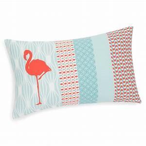Coussin Maison Du Monde : housse de coussin en coton 30 x 50 cm flamingo maisons ~ Dode.kayakingforconservation.com Idées de Décoration
