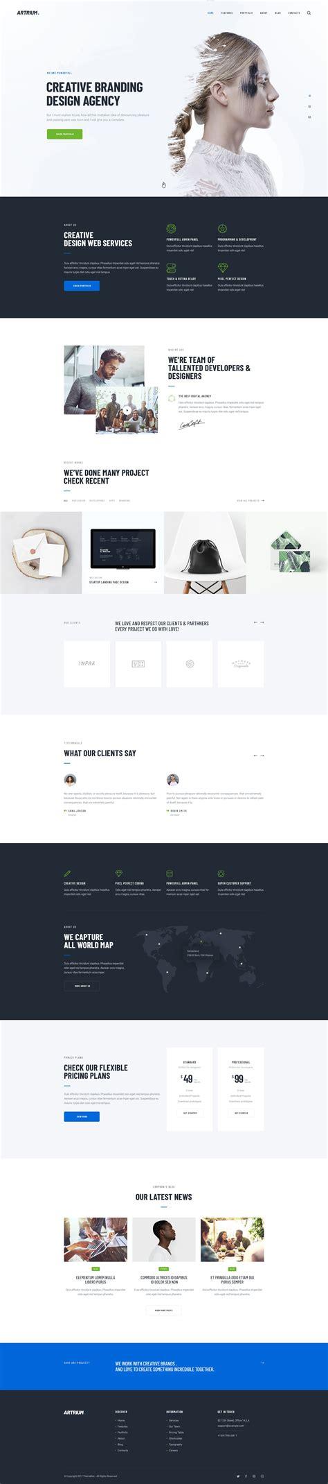 artrium creative agency web studio wordpress theme