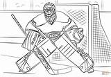 Coloring Hockey Nhl Carey Pages Drawing Goalie Printable Print Connor Mcdavid Colouring Drawings Ice Supercoloring Sports sketch template