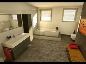 3 Qm Bad Einrichten : badgestaltung in 3d youtube ~ Markanthonyermac.com Haus und Dekorationen