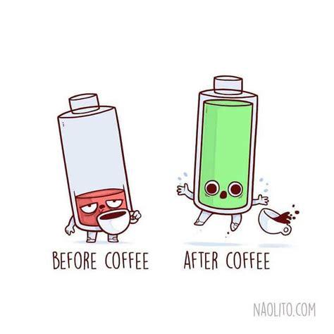"Caramel coffee cappuccino | cute kawaii drawings, cute art. Cute Cartoon Drawings Illustrate Relatable ""Before and After"" Scenarios"