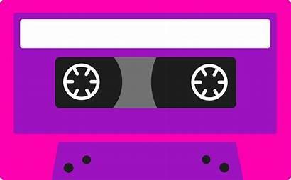 Cassette Tape Clipart Purple 80s Clip 80