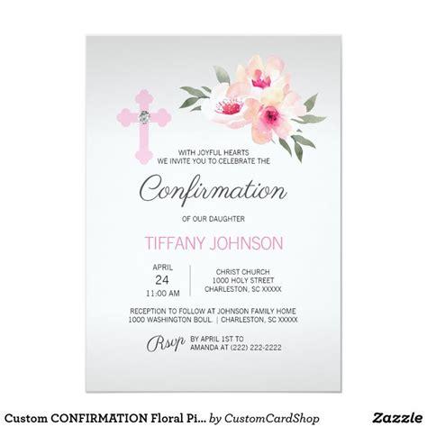 Custom CONFIRMATION Floral Pink Cross GIRL + POEM
