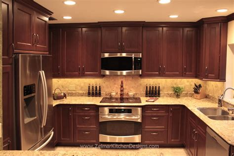 Kitchen Backsplash Cabinets by Shaker Door Style Custom Cherry Kitchen Cabinets With A