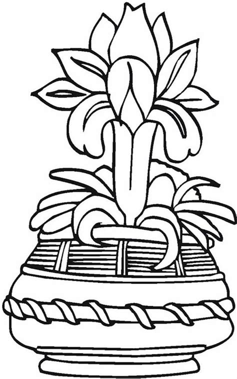 japanese flower vase coloring page coloring sky