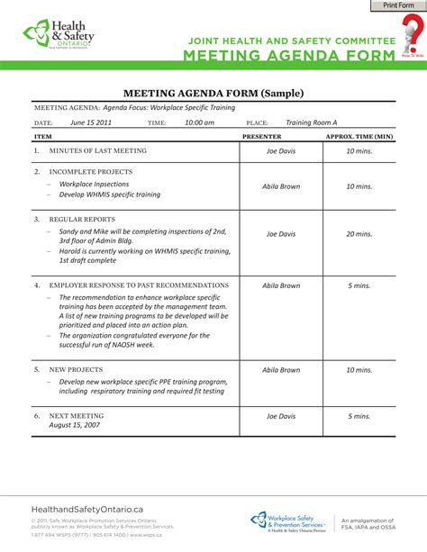 write  meeting agenda template   wiki