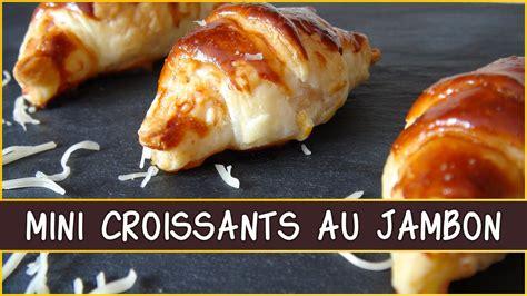 cuisine moutarde recette des mini croissants au jambon