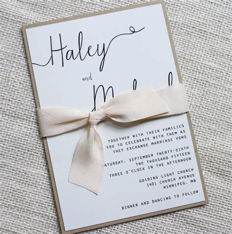 modern wedding invitation simple wedding invitation