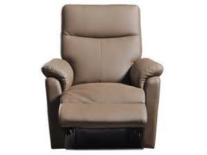 Fauteuil Crapaud Taupe Conforama by Fauteuil Relaxation Manuel Tranks Coloris Taupe En Pu