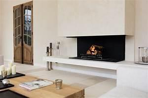 cheminee foyer contemporaine design avec vitre With exceptional idee deco jardin contemporain 5 dilemme deco saloncuisine ouverte