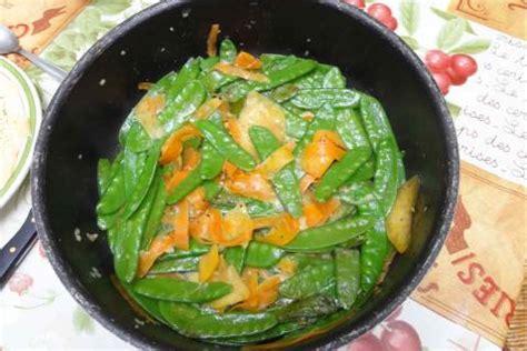 cuisiner des pois gourmand recette pois gourmands sautés 750g