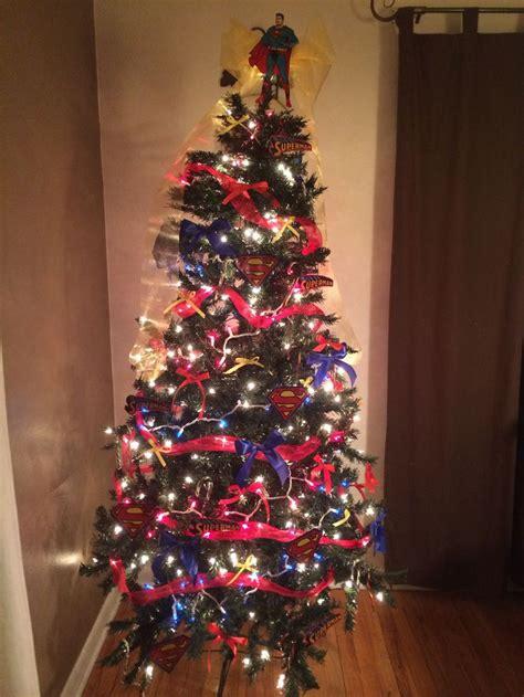 superman tree superhero christmas cool christmas