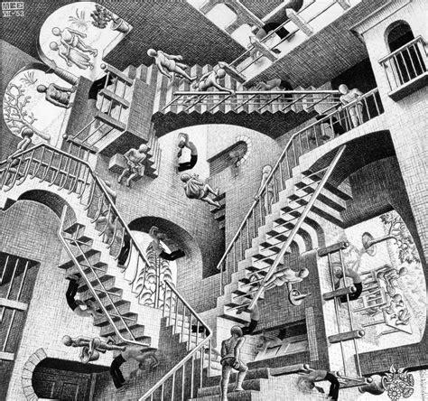relativity   escher art pinterest angus room