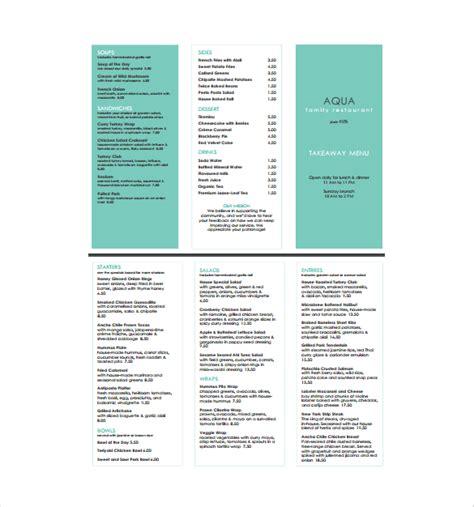 free menu templates 22 free menu templates pdf doc excel psd free premium templates
