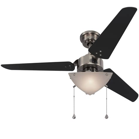 three blade ceiling fan shop harbor breeze impact 48 in polished pewter indoor