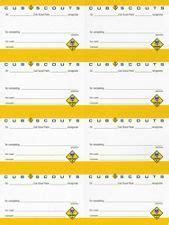cub scout adventure pocket certificate  sheet scout