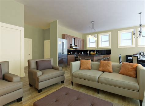 Living Room In Glidden Fresh Thyme Green