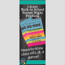 Back To School Flipbook For Meet The Teacher Night (editable Flip Book)  Chalk & Apples