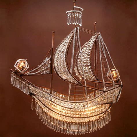 crystal ship hanging light crystal ship chandelier the decorologist