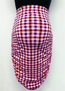 Picnic Pink Print Wiggle Maternity Pencil Skirt By Leota
