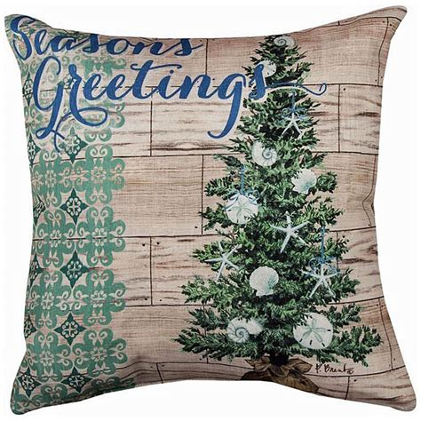 decorative pillows nautical christmas tree pillow