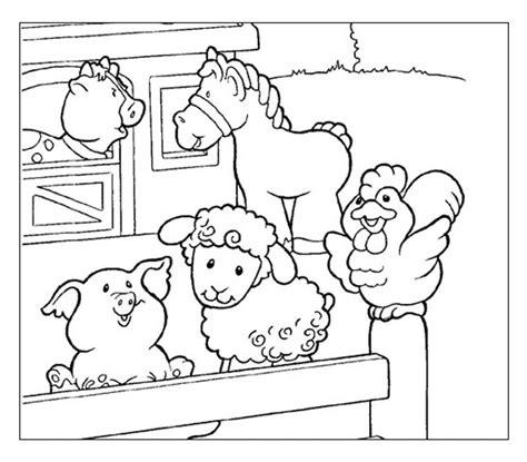 immagini di animali da colorare per bambini animali fattoria disegni