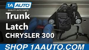 How To Open Trunk When Latch Fails How To Replace Trunk