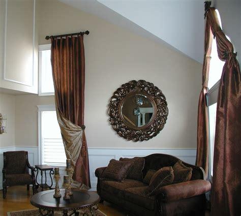 living room window treatment eclectic