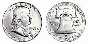 1948 Franklin Half Dollar Liberty Bell Coin Value Prices
