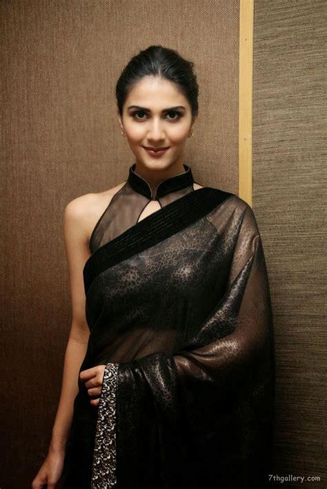 hindi  actress vani kapoor  black saree hd images
