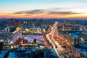 Winter in Perm city – the view from above · Russia travel blog