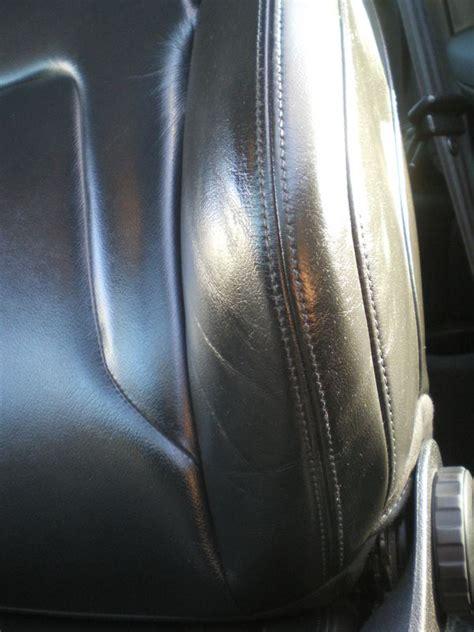 reparer siege cuir réparer un côté de siège en cuir noir intérieur véhicule