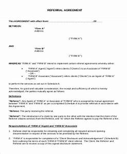 turnkey contract template - 8 sample business referral agreements sample templates