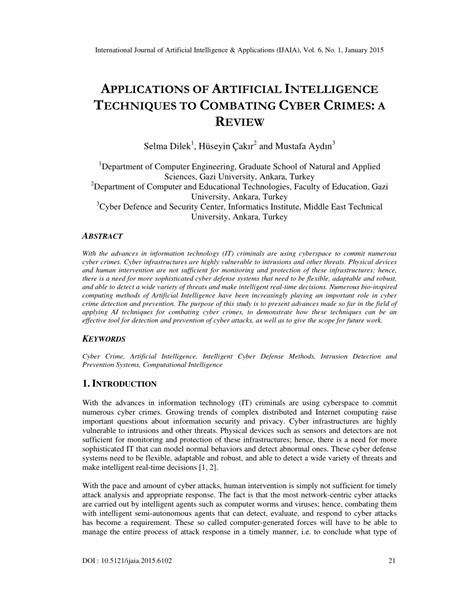 (PDF) Applications of Artificial Intelligence Techniques