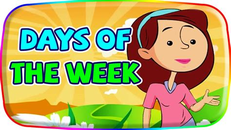 Learn Days Of The Week  Cartoon Animation Songs  Days Of