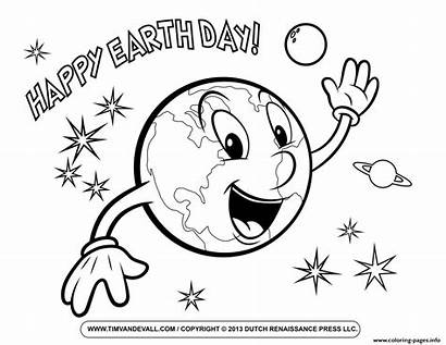 Earth Coloring Pages Happy Smile Printable Science