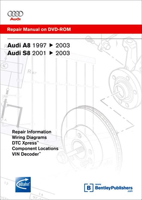 car manuals free online 1997 audi riolet windshield wipe control audi a8 s8 repair manual on dvd rom 1997 2003 xxxad25