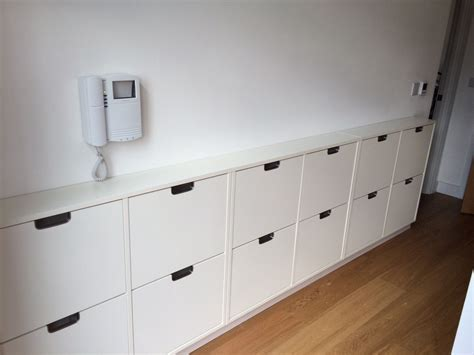 floating shoe cabinet  hallway joinery cabinet
