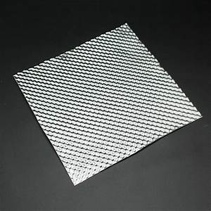 Embossed Aluminum Heat Shield 300mm X 500mm Turbo Manifold Exhaust Electrical L