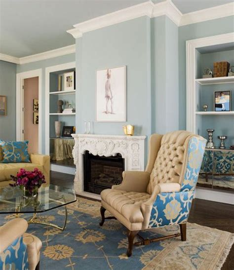 light blue living room accent walls help choosing