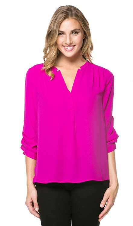 Hot Pink Blouses For Juniors   Long Blouse With Pants