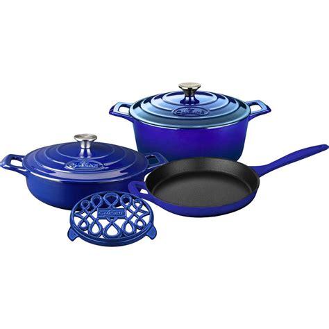 lave cuisine pro la cuisine pro 6 enameled cast iron cookware set
