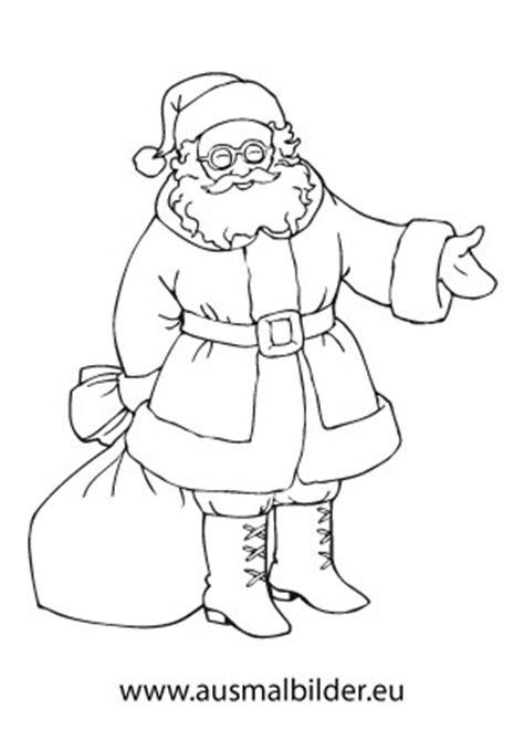 ausmalbilder weihnachtsmann mit brille weihnachtsmaenner