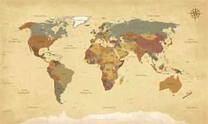 Papier Peint Planisphère : papier peint planisph re mappemonde vintage textes en fran ais vecteur cmjn pixers nous ~ Teatrodelosmanantiales.com Idées de Décoration